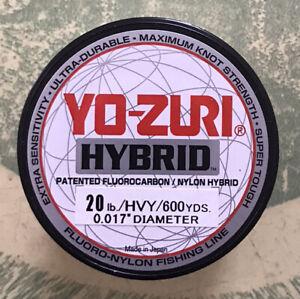 Yo-zuri Hybrid Flurocarbon Fishing Line 20lb Hivis Yellow 600yd