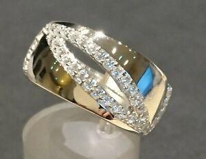 Zirkon Designer Ring von Kerstin Michaelsen Gr. 57 / Ø18,1mm , Silber rhodiniert