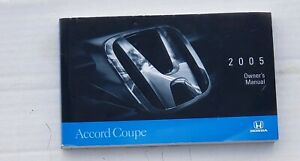 2005 OEM Honda Accord Coupe Owner's Manual