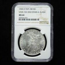 1900-O Morgan Silver Dollar Top-100 Vam 15A DDO Stars & Clash NGC MS64 (slx3515)