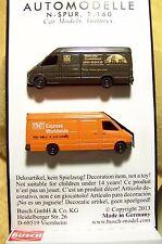 N scale Busch TWO Mercedes Sprinter Vans / Trucks : 1- UPS & 1 - TNT # 8338