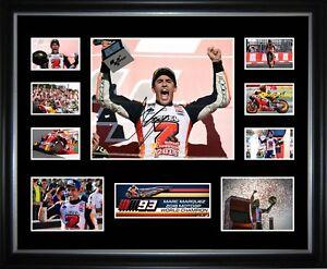 Marc Marquez 2018 World MotoGP Champion Signed Framed Memorabilia