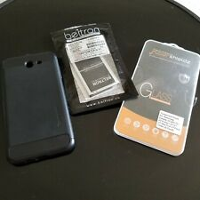 2 New Supershieldz Samsung Galaxy J7 Tempered Glass Screen Protector, Case, Bat