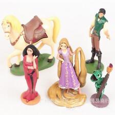 5pcs Princess Tangled Rapunzel Action Figure Figures Toys Dolls Cake Toppers Set