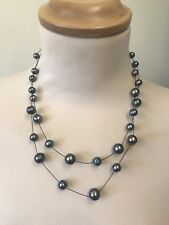 Honora Pearl Necklace Blue Akoya Ring