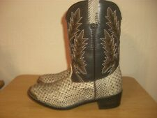 DURANGO SNAKE PRINT PULL-ON WESTERN BOOTS SIZE 4.5 UK /  5.5 USA D
