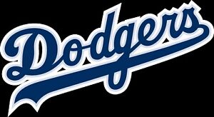 Los Angeles Dodgers TEXT logo Vinyl Decal / Sticker 10 Sizes!!! with TRACKING