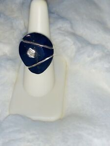 Silpada Midnight Star Ring R2866 Size 7