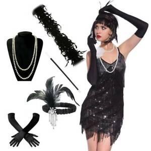 1920S Ladies gorgeous Gatsby  Dress Accessories Flapper gorgeous Girl Dress Set