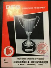 More details for bayern munich v glasgow rangers 1967 cup winners cup final. very good condition.