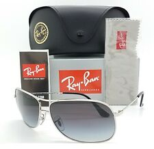 NEW Rayban sunglasses RB3267 003/8G 64mm Silver Grey Gradient AUTHENTIC Aviator