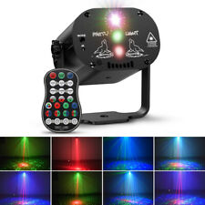 Sound Activated RGB LED Stage Lighting Laser Projector Disco DJ Club Party Lamp