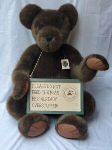 "Rare Boyd's Bears ""Big Ben Bearhugs"" Large 40"" Tesdy Bear With Sign & Tag"