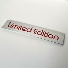 Red Chrome Effect 3D Limited Edition Badge for Hyundai Sante Fe Tucson Veloster