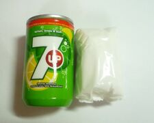 """7UP Wet Tissue Dispenser 3.5"""" Plastic CAN Design Malaysia 2015 Novelty 7 UP Peps"""