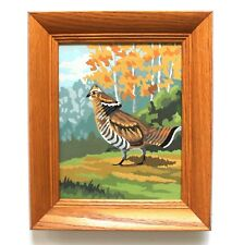 Vintage 1962 Pheasant PBN Paint by Number Pair Wood Framed Ready to Hang! Bird