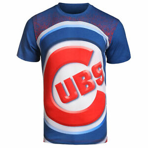 FOCO MLB Men's Chicago Cubs Big Logo Tee