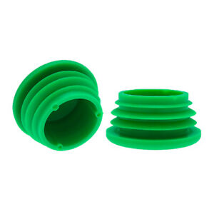 10 Pack Green Tube Inserts 48.4mm, Plastic Chair Feet, Tube End Caps, Fittings