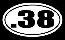 .38 Vinyl Decal Sticker Car Window Bumper Hand Gun Ammo Special Pistol Revolver