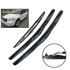Front Rear Windshield Wiper Blades Set For Dodge Caliber 2006-2012 24''17''11''