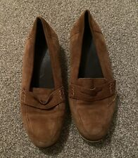 ASOS Brown Suede Loafers Size 5