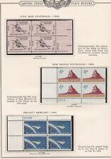 New ListingUnited States Plate Blocks #1179 & 1191 & 1193, mint, see notes below, 1962