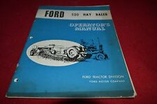 Ford Tractor 520 Hay Baler Operator's Manual YABE11