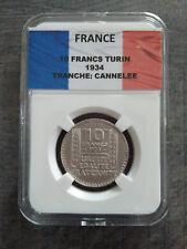 10 Francs Turin 1934 TB sous capsule SLAB