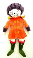 Ikea Ridderlig Orange Dressed Cat Mouse In Renaissance Attire Soft Plush Toy