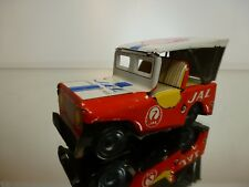 TT JAPAN TIN TOY - JEEP JAL AIRPORT SERVICE - RED L10.5cm FRICTION - GOOD