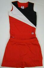 "Orange NEW Cheerleader Uniform Outfit Costume Adult S Teen 32"" Top Skirt Briefs"