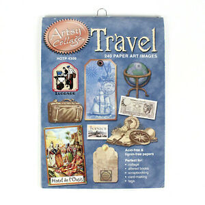 Artsy Collage Travel 240 Paper Art Images Scrapbooking Card Making Tags Vacation