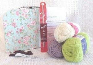 CROCHET KIT Beginners Learn to Crochet Instructions Hook Wool Handmade With Love