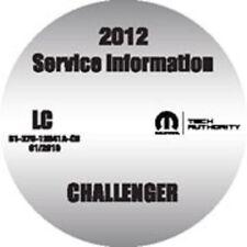 2012 Dodge Challenger OEM Service Workshop Repair Shop Manual CD 8127012041ACD