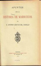 Apuntes para la Historia de Marruecos. Antonio Cánovas del Castillo.