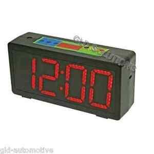 OROLOGIO TIMER-CRONO-CLOCK da Parete/Tavolo Display a LED rossi 10 cm altezza