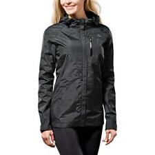 weatherproof & breathable paradox rain jacket womens black print /navy print