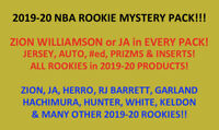 2019-2020 NBA ROOKIES MYSTERY PACK! ZION OR JA in EVERY PACK! 2019 RC ONLY!