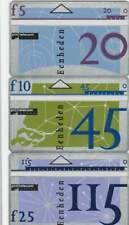 Telefoonkaart / Phonecard Nederland D018-D020 B ongebruikt - Zevende Serie