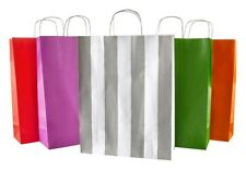 More details for coloured kraft twisted handle paper carrier bags