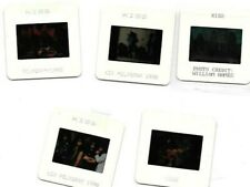 """Five 2x2"""" 35mm color press promo slides of Kiss, 1990, Exc condition"""