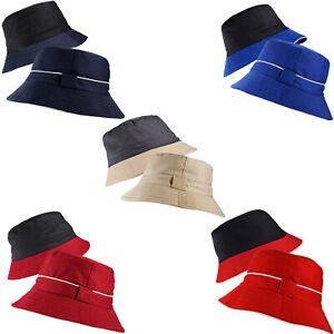 Unisex 2 Tone Reversible Classic Bucket Bush Cotton Fisherman Boonie Hat