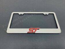 SAINT LUCIA FLAG SPORT SOCCER License Plate Frame Stainless Metal Tag Holder