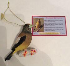 Danbury Mint Christmas Songbird Ornaments Evening Grosbeak Figure