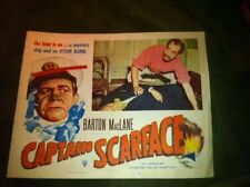 Vintage Theatre Lobby Card Captain Scarface Crime Movie Poster Mystery