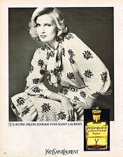 PUBLICITE ADVERTISING 064  1973  YVES SAINT LAURENT  pafum Y