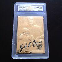 BRETT FAVRE AUTOGRAPHED 1996 LIMITED EDITION 23KT GOLD CARD GEMMT 10! 3X NFL MVP