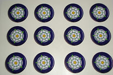 "12 YORKSHIRE ROSE  1"" CROWN GREEN BOWLS  STICKERS  LAWN BOWLS FLATGREEN"