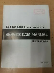 SUZUKI Outboard Motor Service Data Manual For '98 Models