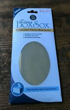 Tissue Box Sox-Decorative Cover-Fits Family Size-Brand New in Package-Brown-Home
